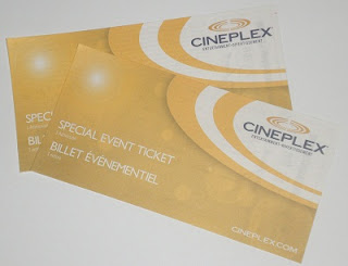Cineplex tickets.