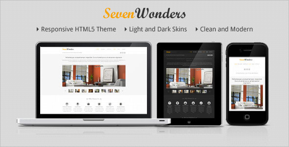 Image for SevenWonders – Clean Theme by ThemeForest
