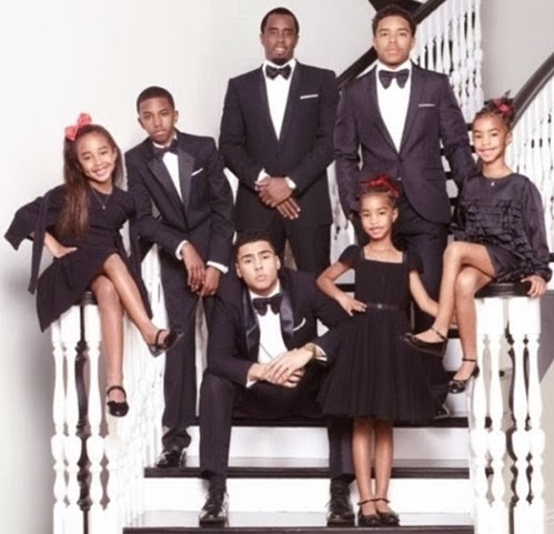 p diddy family christmas card