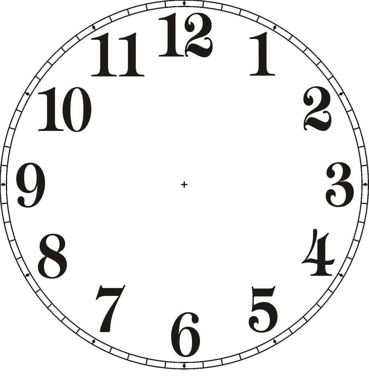 Reloj sin agujas para imprimir  Imagui