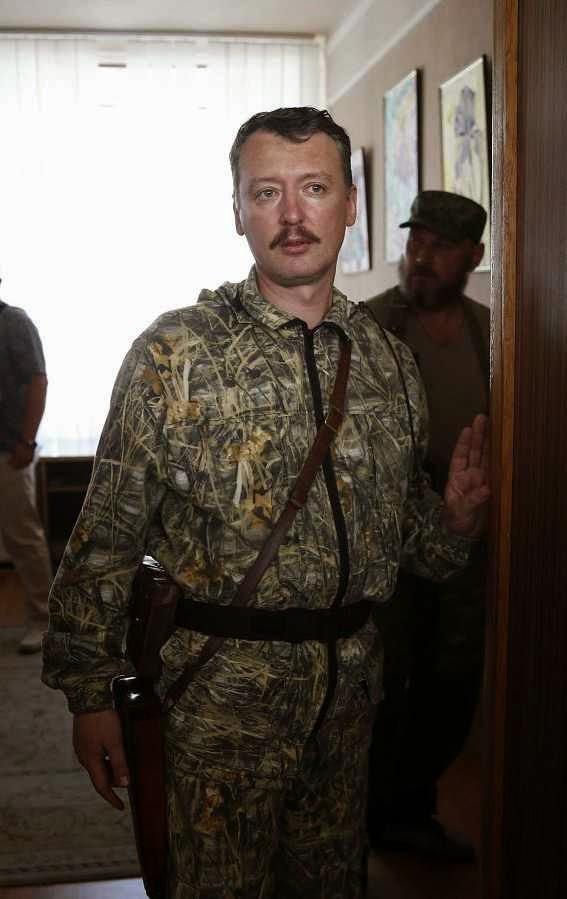 Igor Girkin, ou 'Igor Strelkov'.  Agente do GRU russo comanda a defesa de Donetsk