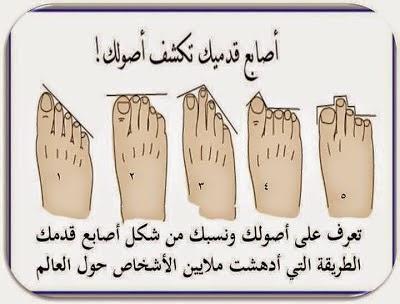 إعرف أصولك ونسبك من شكل أصابع قدمك