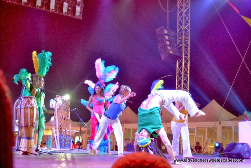capoeira mob at the Dubai Food Carnival