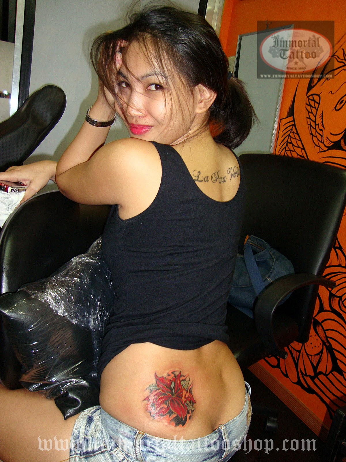 Asian girl filipino yahoo strip and finger