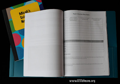 STEM notebook for a gift idea! STEMmom.org