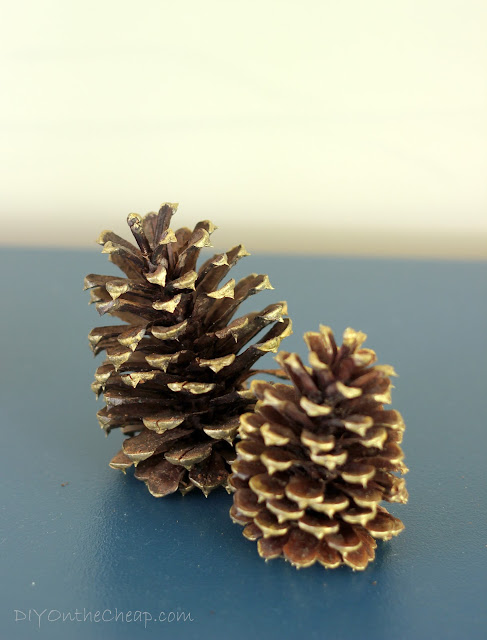 Gilded Pine Cones: Simple and Free Vase Filler for Fall