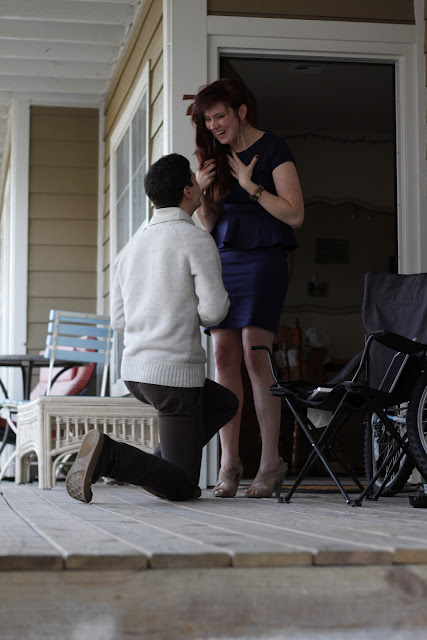 proposal in action, best proposal ever, marry me bruno mars, shabby apple dress, i said yes