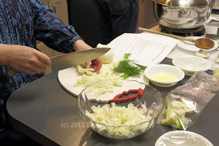 Preparation of the Fennel Salad