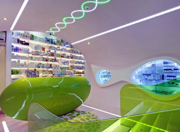 Medical Stores Interior Lighting Design Ideas
