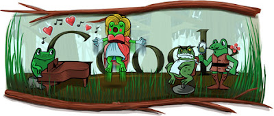 Gioachino Rossini 29th Feb 2012 Google Doodle