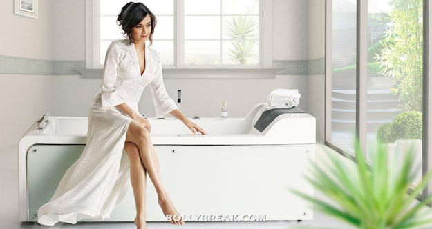 Dia mirza in Cera Ad - White Bathrobe - Dia mirza Cera India Ad Wallpapers