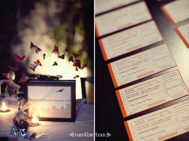 wedding trends travel themed wedding