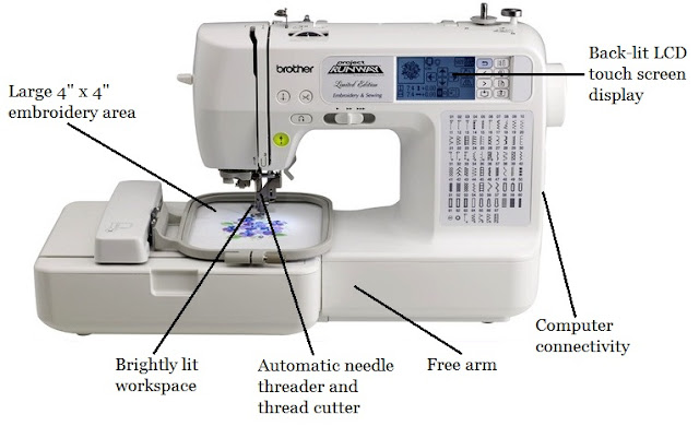 Brother SE4000 Combination Computerized Sewing And 400x400 Embroidery Gorgeous Brother Sewing And Embroidery Machine Se400