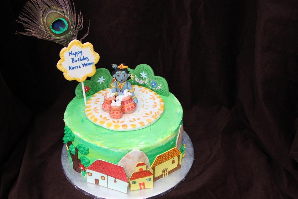 DHANYA S DELIGHTS: Baby Krishna Cake
