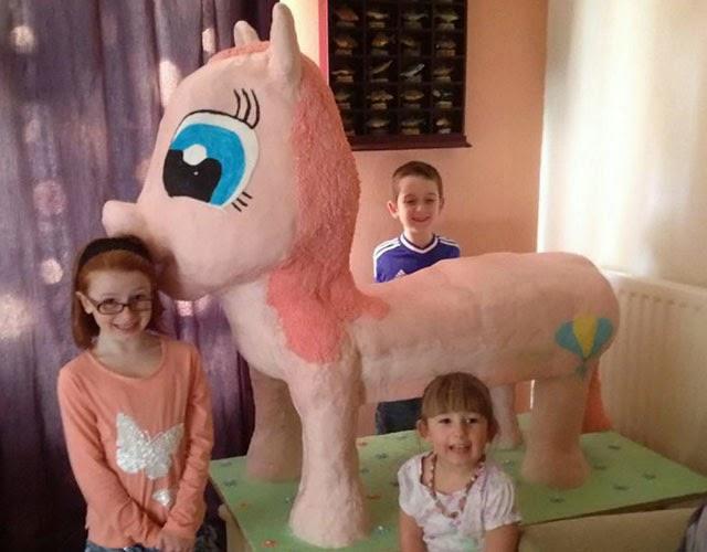 Huge Pinkie Pie Birthday Cake