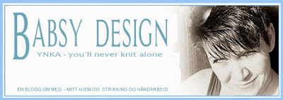 Babsy design YNKA ( you`ll never knit alone )