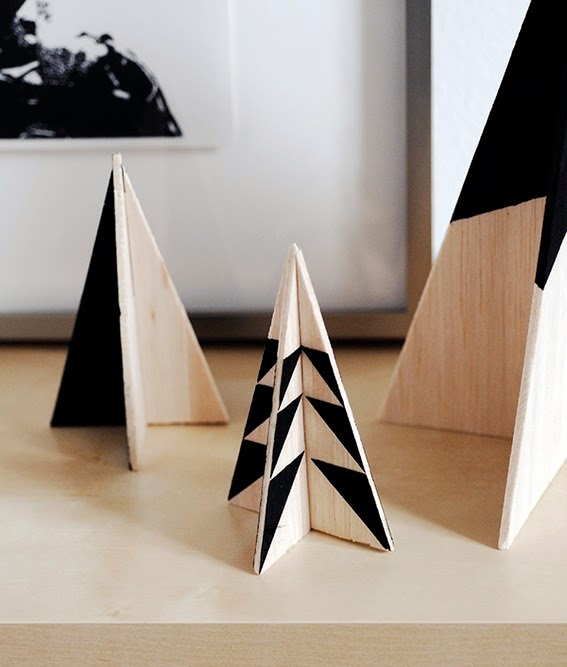 Diy pino de navidad de madera de okume o cartón10