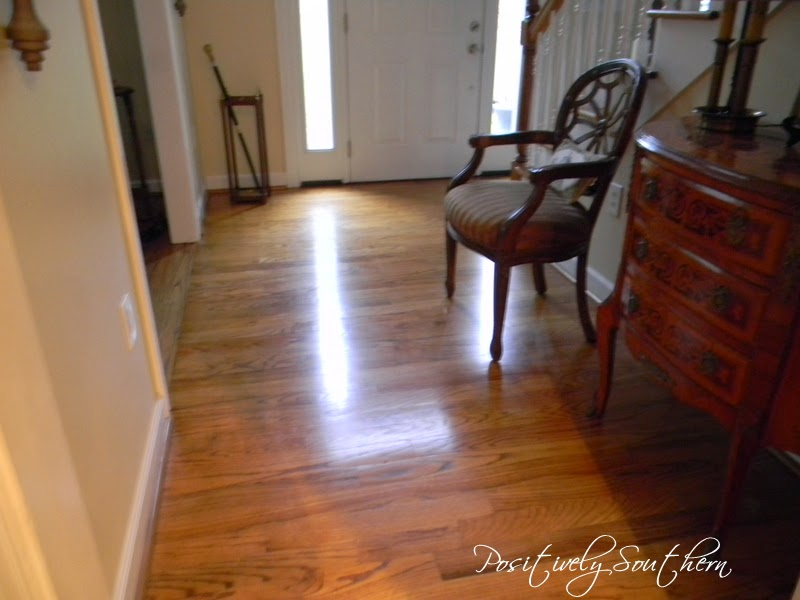 what a difference the bona hardwood floor polish made this is after the polish had dried for about an hour