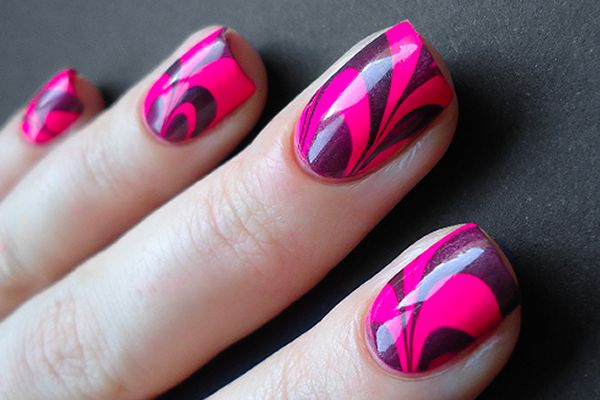 Popular diy crafts blog how to do water marble nail art materials prinsesfo Choice Image