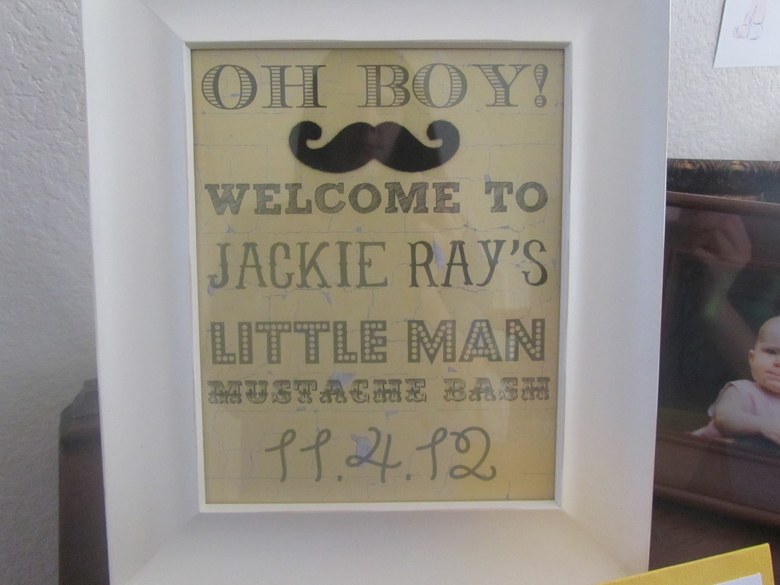 the chronicles of us A Little Man s Mustache Bash Baby Shower