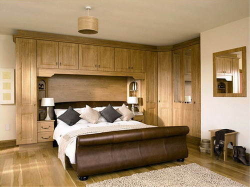 Increase your bedroom storage space using bedroom wall for Bedroom designs uk