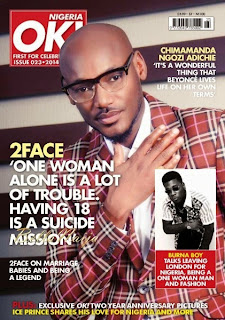 2Face Idibia on OK Nigeria Magazine