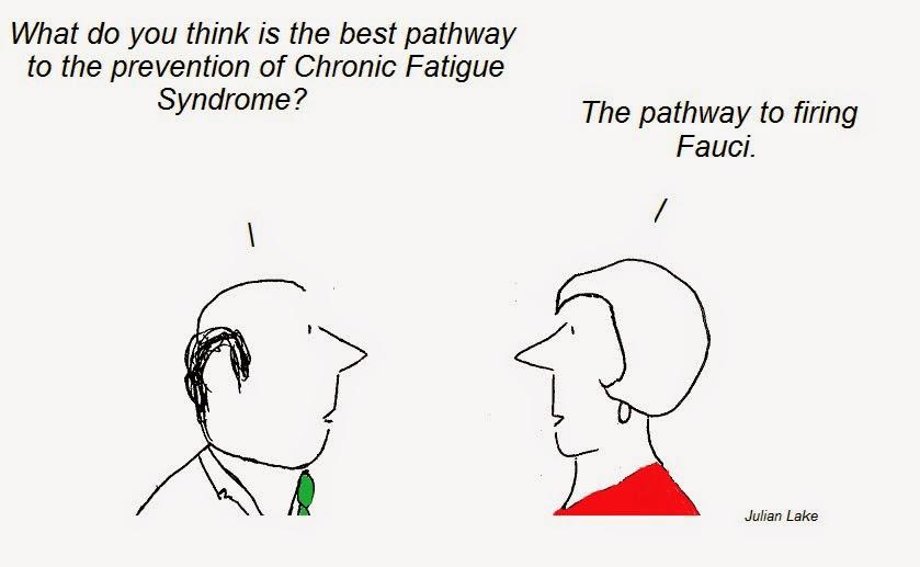 cartoon, cartoons, fauci, cfs, chronic fatigue synrome, pathway to prevention, fraud
