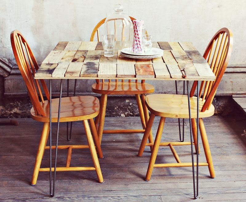 Como hacer una mesa r stica con - Como hacer una mesa con palets ...