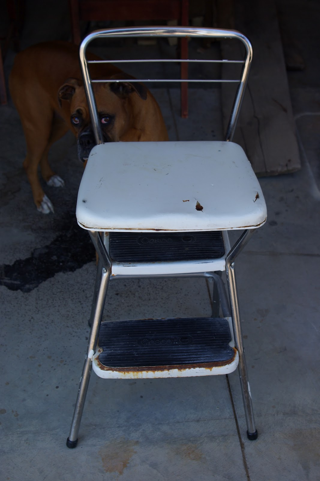 Cosco step stool chair - Mid Century Cosco Step Stools Chairs