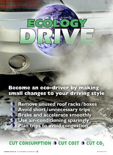 Fuel saving poster