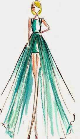 Taylor Swift Dress Sketch 2015 Grammy Awards