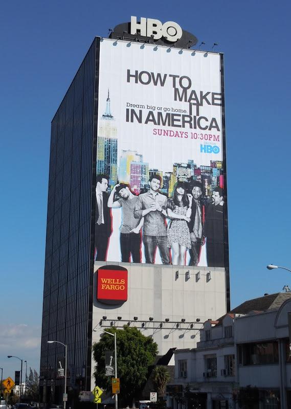 Giant How to make it in America season 2 billboard