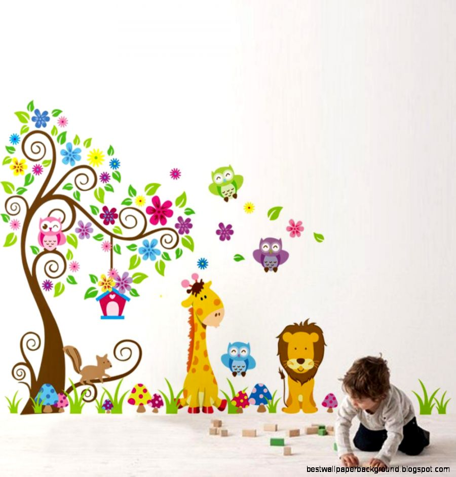 Wholesale Home Decoration DIY Kid39s Child Room Decal Cartoon Cute