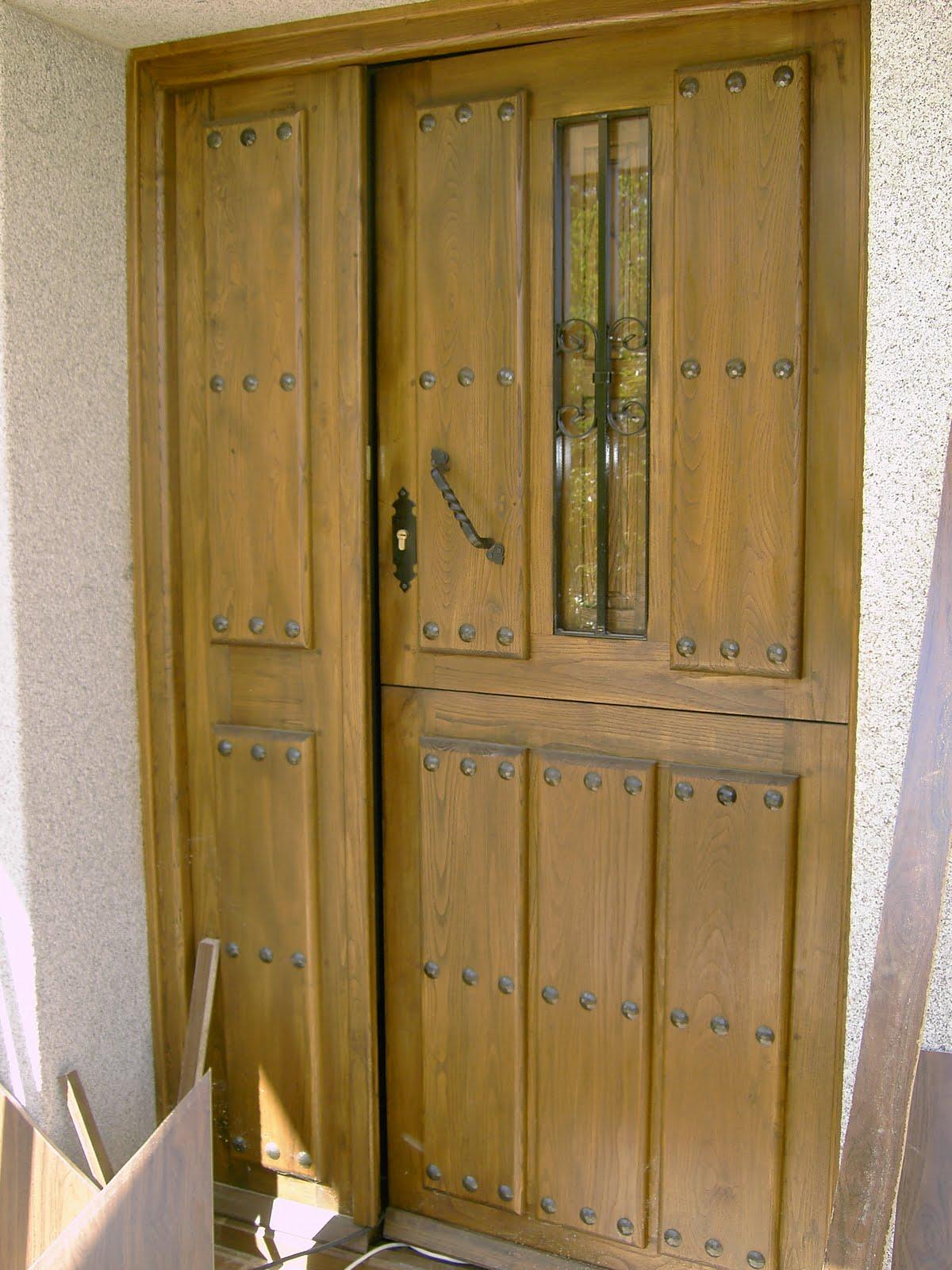 Carpinteria de madera corriols artesanos de hervas puertas construidas artesanamente - Puertas de castano ...