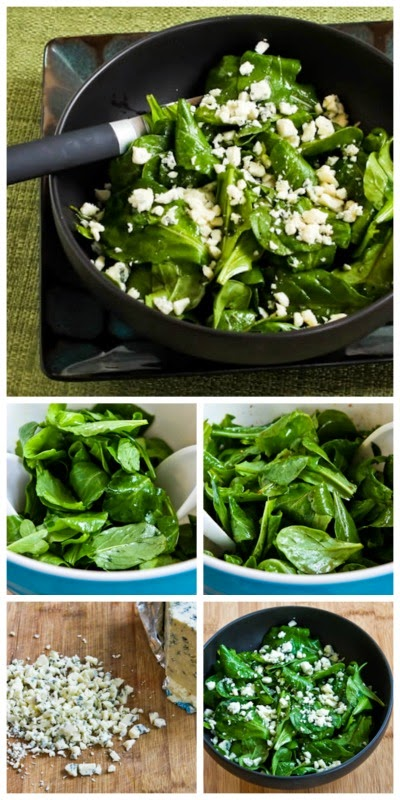 Arugula and Gorgonzola Salad with Balsamic Vinegar found on KalynsKitchen.com
