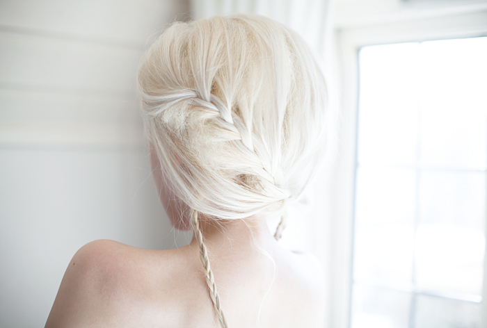 blonde blond hair braid
