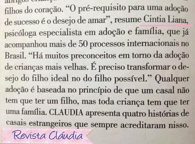 Cintia Liana na Revista Cláudia