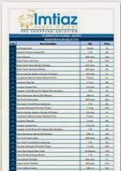 View / Download Price List