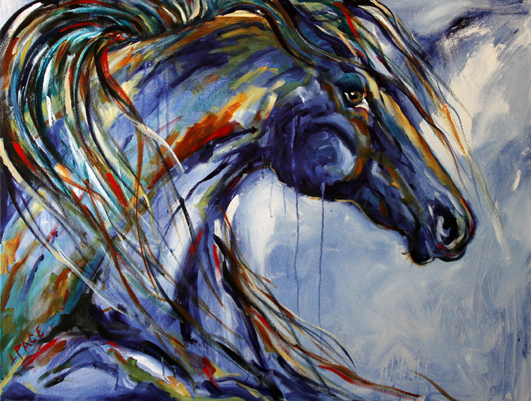 Artistic Horses Horse Painting by Texas Artist