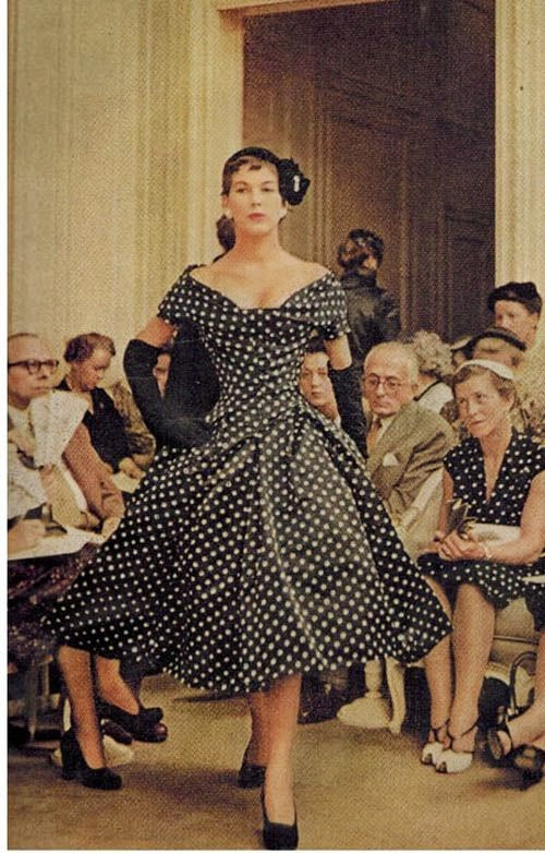 Dior new look pois 1954