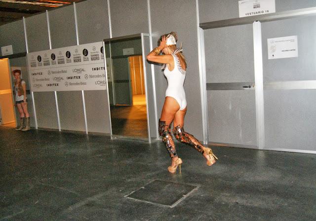 model running backstage