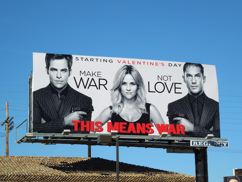 Make War Not Love movie billboard