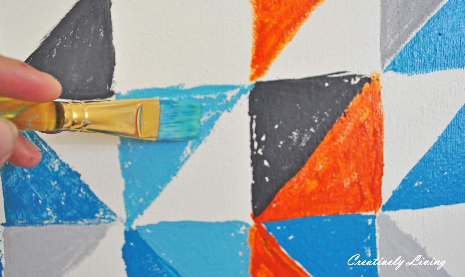 Epic DIY Geometric Wall Art nursery project