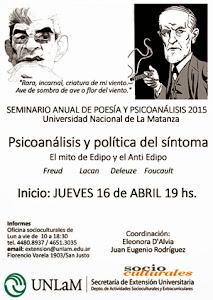 SEMINARIO DE POESÍA Y PSICOANÁLISIS 2015
