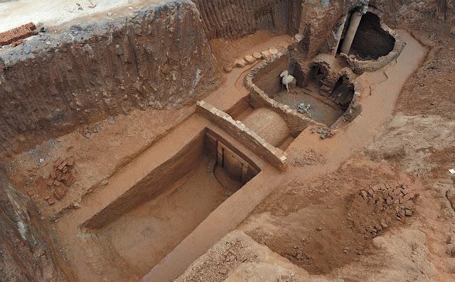 ภายในสุสานของขุนพลสมัยสามก๊กที่ค้นพบ ณ เมืองซงหยง
