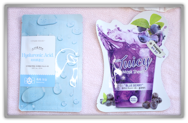 MaskGenie September Pouch review Holika Etude House Hyaluronic Acid Holika Juicy Mask Sheet Blueberry