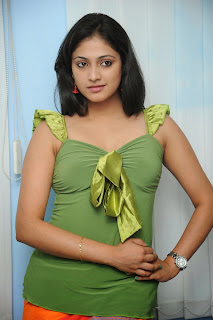 Haripriya Looks Gorgeous in Green Top and ORange Skirt Spicy Pics