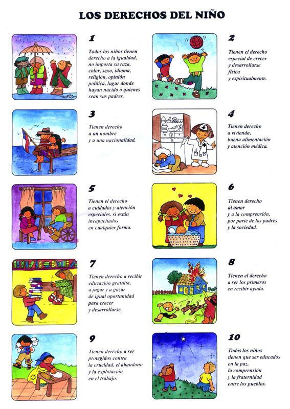 Carpetas escolares: Imágenes para imprimir - Derechos de los niños