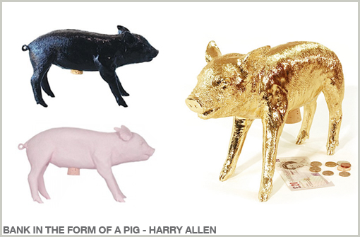 BANK IN THE FORM OF A PIG - HARRY ALLEN