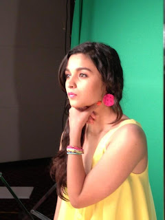 Alia Bhatt on the sets of May belline India's photoshoot